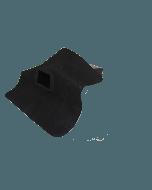 EPDM hemelwaterafvoer 60mm x 80mm 90 graden uitloop