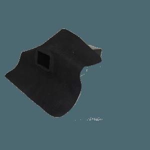 EPDM hemelwaterafvoer 60mm x 100mm 90 graden uitloop